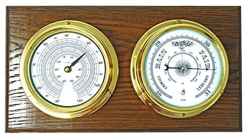Tabic, barómetro termómetro latón tradicional soporte