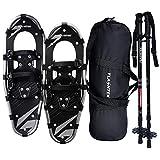 FLASHTEK 30 Inches Snowshoes for Men and Women, Lightweight Aluminum Terrain Snow Shoes (Gray)