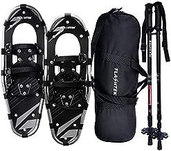 FLASHTEK 25 Inches Snowshoes for Men and Women, Light Weight Aluminum Terrain Snow Shoes (Gray)