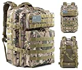 Mochila táctica militar 45l mochila militar mochila de caza mochila repelente de insectos bolsa grande para acampar y escalada bolsa especial militar 3 días bolsa de asalto al aire libre bolsa molle