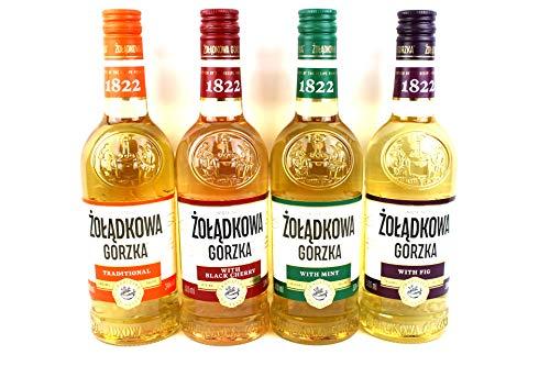 Vierer Paket Zoladkowa Gorzka (4x0,5) 1 Trditionel, 1 Black Shery, 1 Mint, 1 Feige
