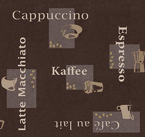 d-c-fix Wachstuch Wachstischdecke Gartentischdecke Tischdecke Kaffee Braun Cappuccino Espresso Breite & Länge wählbar 110 x 160 cm abwaschbar Eckig