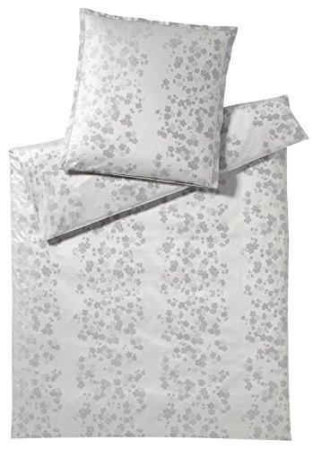elegante Mako Satin Bettwäsche Arteflora 2212-000-155x200 40x80 weiß