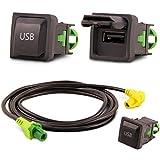 Adapter Universe, adattatore USB per autoradio, con cavo adattatore per autoradio, colore nero