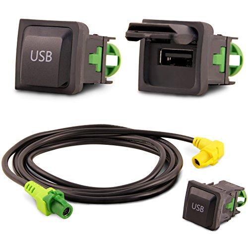 Adapter Universe USB Empotrable Bloque Cable Radio De Coche para VW RCD510 RNS315 RCD030