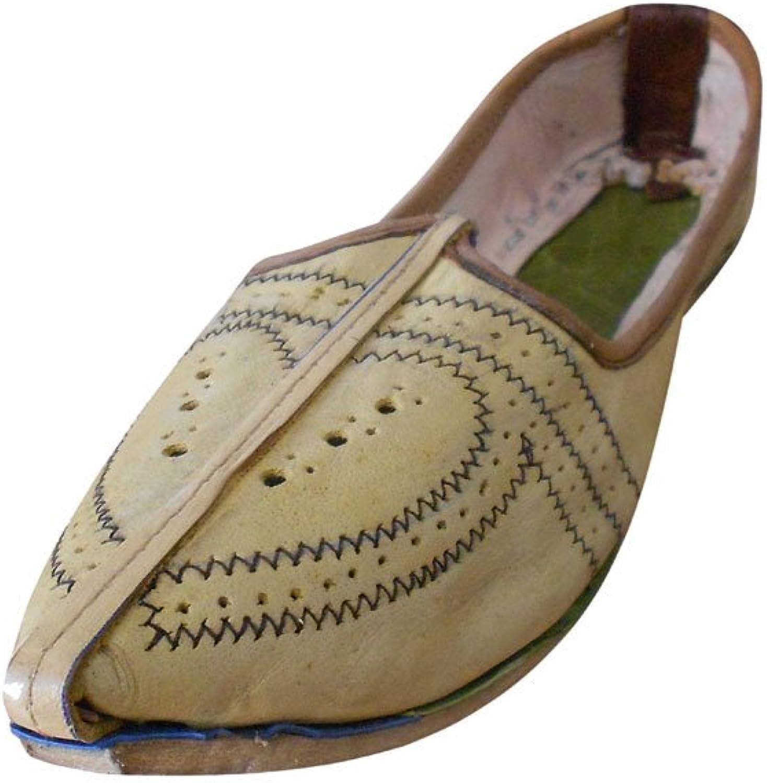 Kalra Skapar Mans Jutti Indian Indian Indian Traditional läder Ethnic skor  populär