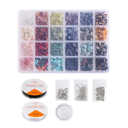 Bluelliant 4-8 mm Piedra Preciosas Natural Irregulares Piedras Colores Cristal Sueltas con Piedra para Hacer joyería para DIY Pulseras Collares Bisutería