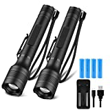 Best LED Flashlights - Brightest LED Flashlights Rechargeable 2 Pack, Waterproof 1500 Review