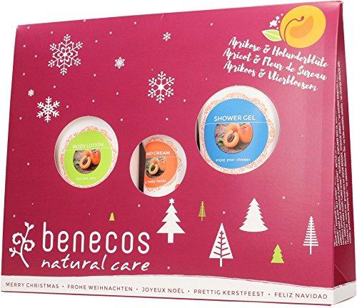 Benecos - Coffret : Gel Douche, Lotion Corps, Crème Mains - Abricot Sureau