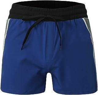 Nicircle メンズ ビーチショーツサーフィンの 実行水泳 水着 海水パンツ 競泳パンツ パンツ ショーツ 夏 ポケット ショーツ 無地 細身 Men's New Summer Solid Sport Swimming Beach Pants