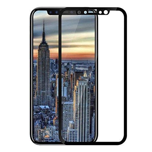 Lobwerk beschermglas voor Apple iPhone X/iPhone XS/iPhone 10 5,8 inch glas scherm bescherming anti-vingerafdruk, zwart