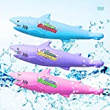 Water Guns for Kids,Water Squirt Gun 30 ft Range Super Soaker Water Gun for Children and Adults,Summer Fun Outdoor Swimming Pool Beach Sand Games Shark Water Toys (3pcs)