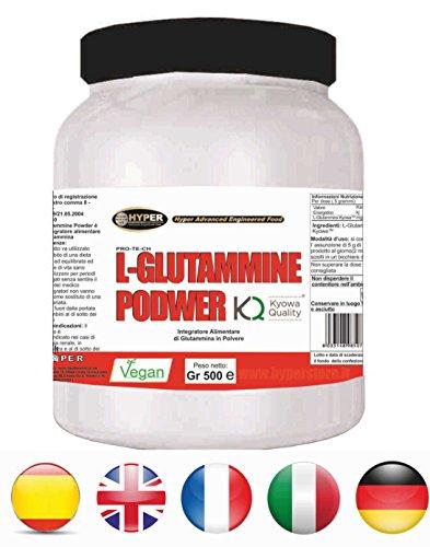 Hyper L- GLUTAMMINE Glutammina Kyowa Integratore Alimentare 1 Flacone gr 500