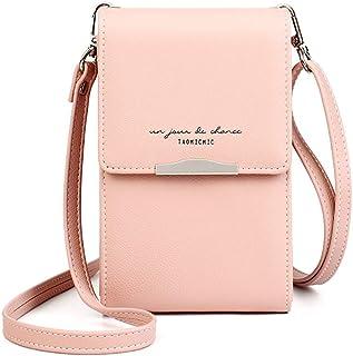Katech Handtasche Damen Kleine, Citytasche Schultertasche Multifunktionale Handytasche mit Vielen Fächern und Kartenfäche...