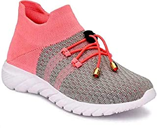 Shozie Women Casual Walking and Running Sports Shoes Pink