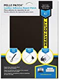 Pelle Patch - Leather & Vinyl Adhesive Repair Patch - 25 Colors Available - Heavy-Duty 8x11 - Dark Brown