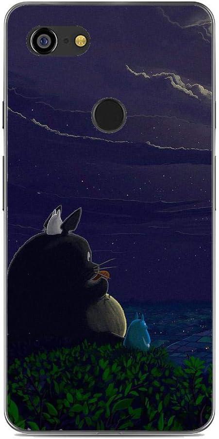 Amazon.com: Clear Thin Soft Protective TPU Rubber Anti-Slip Phone Case Cover for Google Pixel 3-Tonari no-Totoro Anime 4 : Cell Phones & Accessories
