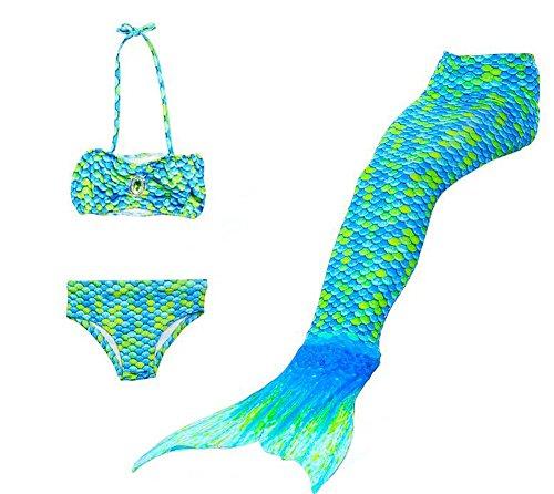 duojin kind zeemeermin staart badpak Bikini Set zwemmen pak meisje zwemmen kostuum