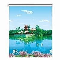 LIQICAI ロールスクリーンハニカムシェードロール カーテンウィンドウ キッチンベッドルーム用断熱日焼け止めマニュアルリフティングブラインドサンシェード、2スタイル、カスタムサイズ (Color : A, Size : 85cmX150cm)