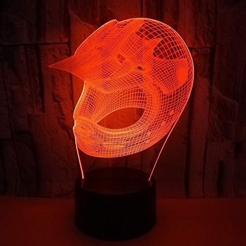 Kk Timo Lampara Sombrero De Rugby De La Lámpara LED De Colores Gradiente 3D Estereoscópica Táctil Remota USB Luz De La Mesilla De Noche Regalo For Las Fiestas De Cumpleaños Mesa Decorativa Creativa 20