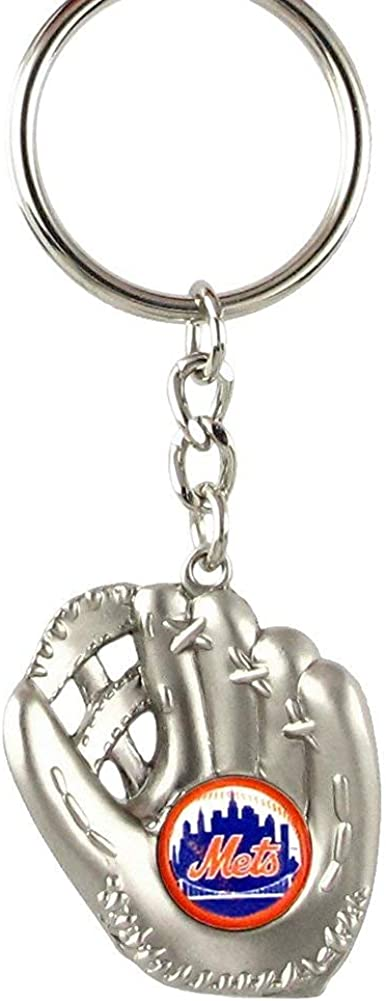 New York Mets - MLB Silver Baseball Glove Keychain