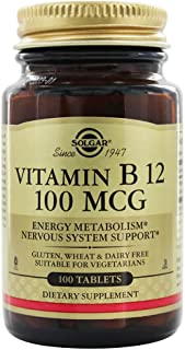 Solgar - ビタミン B12 100 mcg。100錠剤