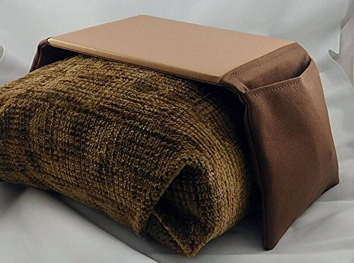 Arm Chair Arm Rest Mouse Pad - Large Brown/tan with Mouse Pocket