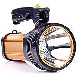 LLY projecteur, Longue portée de Haute durée jusqu'à 1000 mètres USB Externe lumières Portables jusqu'à 30 Heures d'autonomie de la Batterie pour l'auto-Conduite à Domicile en Plein air