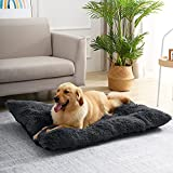 Large Dog Bed Cat Bed for Crate, Washable Fluffy Calming Pet Bed Mat, PP Cotton Waterproof Anti-Anxiety Pet Kennel for Large Medium Small Puppy Dogs Cats