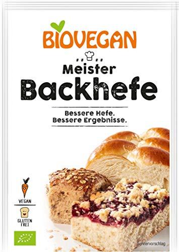 Levadura orgánica extra fuerte Levadura 'Master Yeast' 7g Biovegan   Nueva fórmula libre de gluten de levadura de Baker - Levadura de hornada Master Bio Maximum Power