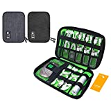 Luxtude Electronic Organizer, Compact Cable Organizer, Portable Cord Organizer, Travel Organizer Bag for Cable Storage, Cord Storage and Electronics Accessories Phone/USB/SD/Charger Organizer (2 Pack)