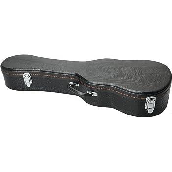 """New 26/"""" Ukulele Hard Case Leather Black"""