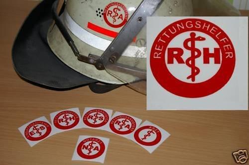 2x Helmaufkleber - RH - Helm Kennzeichnung - Rettungshelfer - MIH Medical