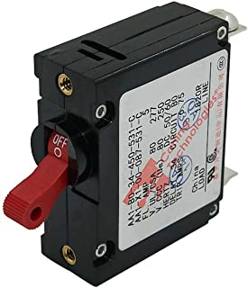 Toggle Magnetic Circuit Breaker 5Amp Red Reset Switch AC/DC Current Overload Protector Single Pole Manufactured by Ocean River
