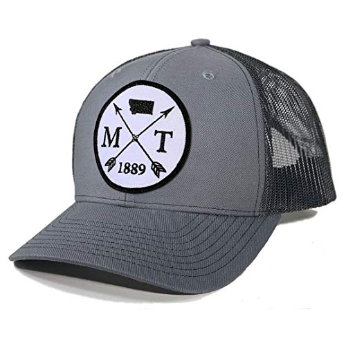 Homeland Tees Men's Montana Arrow Patch Trucker Hat - Charcoal/Black