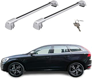Aluminio SUV para Todoterreno Portaequipajes Coche L124 hasta 150 kg 2 Piezas BMOT Baca Barras de Techo Universal