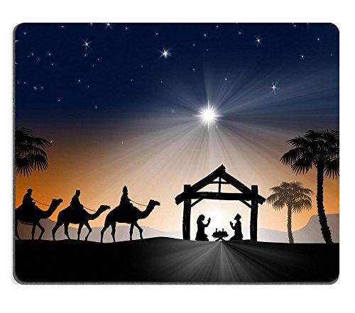 MSD Caucho Natural Gaming Mousepad imagen ID 34260640Belén de Navidad cristiana con los tres reyes magos