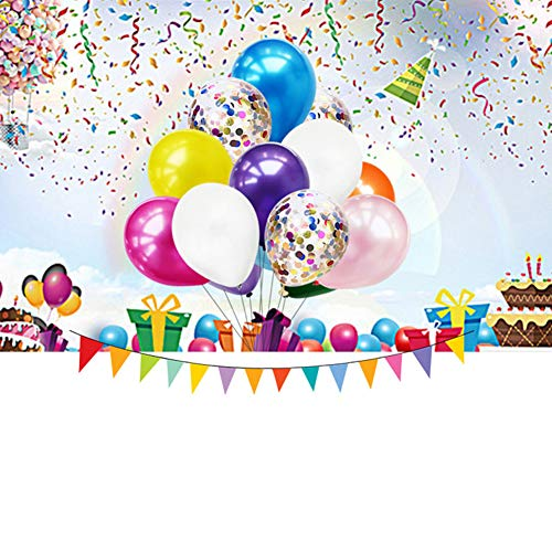 40 Teile/Satz 12 Zoll Runde Konfetti Ballons Set, mit Inflator für Party Raumgestaltung Dekoration Schwarzes Gold und Silber