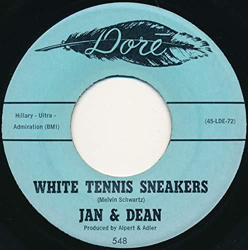 white tennis sneakers 45 rpm single