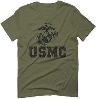 USMC Marine Corps Big Logo Black Seal United States of America USA American for Men T Shirt