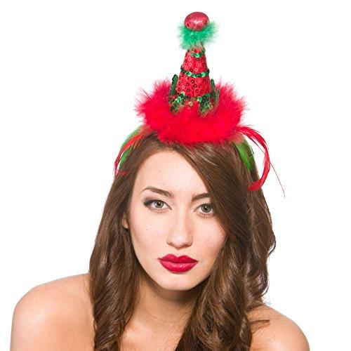 Deluxe Elf Hat on Headband Christmas