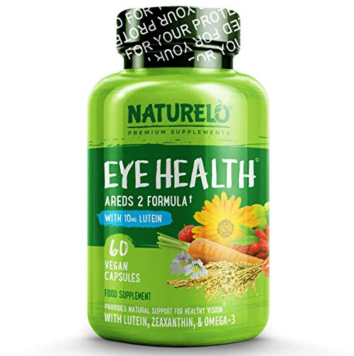 NATURELO Eye Vitamins AREDS 2 Formula with 20MG Lutein, 0.09098 kg, 60 Units
