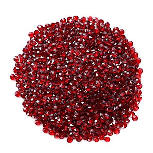 SUPVOX - Piedras decorativas de cristal ideales para decorar mesas de boda, 4,5 mm, 2000 unidades, color rojo