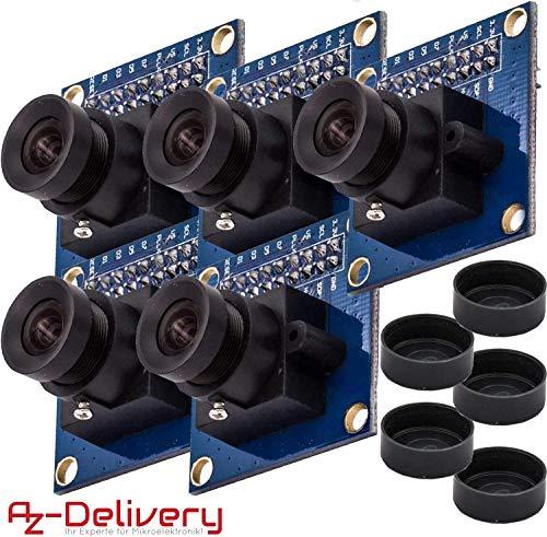 AZDelivery 5 x Kamera Module für Arduino OV7670 300KP VGA-Mini Arducam inklusive E-Book!