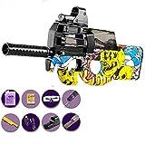 Verano P90 Pistola de Agua Balas de Agua Pistola Juguetes para niños Sniper de plástico Soft Paintball CS Juegos Niños al Aire Libre Arma Pistolas de Juguete,Amarillo