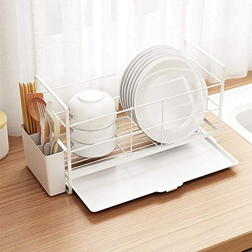 Giow Abtropfgestell, Geschirrkorb Küchenregal Spüle Tablett Lagerregal Geschirrspülmittel Fensterbank kleine Abflussregal