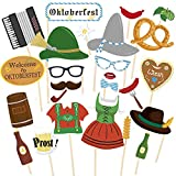 Sayala 26Stuck Oktoberfestdeko Bayrische Deko Party Photo Booth Props Oktoberfest Fotorequisitten...