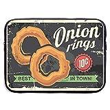 Onion Rings Retro Restaurant Signe 15 Pouces Sac D'ordinateur Portable Zipper Portable Sac D'ordinateur Portable Sac De Tablette
