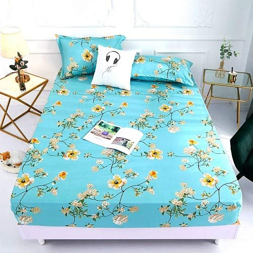 Cling 1pcs 100% polyester printing bed mattress set with four corners and elastic band sheets pillowcases need order 140X200X25cm qingyizhengnong