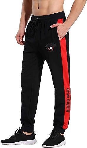 CakCton Pantalon de jogging pour homme - Coton - Coupe ajustée - Pantalon de loisirs